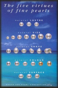 South Sea pearls have natural white and golden colors.